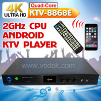 karaoke machine - 4K Android CORE HD karaoke player Chinese English Vietnamese karaoke machine Support over TB Hard disk Build In AGC AVC