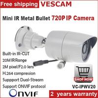 Wholesale Mini Half P MP IP Camera Bullet I1280 P ONVIF Waterproof Outdoor IR CUT Night Vision P2P ip camera