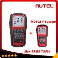 Autel TPMS diagnóstico y servicio herramientas MaxiTPMS TS601 gratis actualización por un año + 4 MD802 sistema como regalo DHL gratis