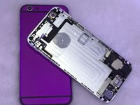 Wholesale For iPhone New Hard Metal Middle Frame Back Color Housing Cover For iPhone inch Glass
