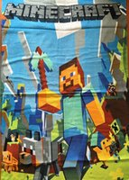 beach towel - In stock Size minecraft towel Children s bath towel beach towels Pure cotton cartoon ice colors towel