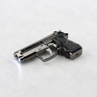 Wholesale Best Selling smoking Portable Luxury Mini metal Gun Shaped Butane Adjustable Flame Gas Cigarette Welding Torch Lighter