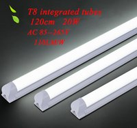 Wholesale New bright energy saving T8 integrated LED lighting tubes cm W SMD AC V lm W