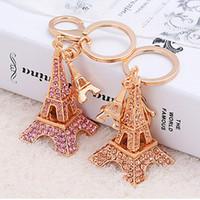 eiffel tower - crystal Eiffel Tower Keychain French France Souvenir Paris KeyChain Key Chain Key Car Bag Holder Keyring