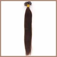 Wholesale 6A Brazilian Virgin Hair Bundles Nail Tip U Tip Hair Extensions Darkest Brown Straight g Keratin Stick Hair Human Remy Hair