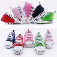 Wholesale Comfortable Infant Toddler Baby Boy Girl Star Print Anti slip Canvas Crib Shoes M