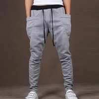 drop waist - Mens Joggers New Casual Slim Fit Skinny Harem Pants Men Drop Crotch Sweatpants Jogging Pants Men Sarouel Track Pants Chinos