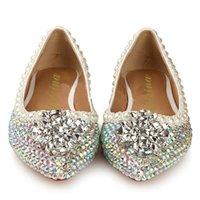 silver flats - Cheap Women Shoes Flats Loafers Ballerina Almond toe Silver Flat Heel Beading Rhinestone