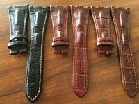 Gros-For audemars 28 mm faits à la main en cuir véritable bracelet montre bracelet pour AP Pour piguet + Outils