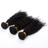 extension natural hair curl - 3pcs Kinky Curly Human Hair Weaves Extensions Malaysian Brazilian Peruvian Remy Virgin Natural Black Flat Iron Wash and Dry Curl Available