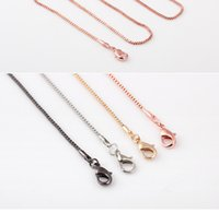 Wholesale Black K Gold Rose Gold Filled Colour Options Necklace Chains Long Inches High Quality Pendant Necklace Links New