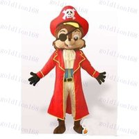 Mascot Costumes Animal Occupational Hot Sale Pirate Squirrel Mascot costume Adult Size for party,good quality best price free shipping