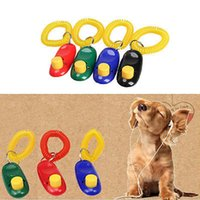 dog clicker - Pet Dog Pro Training Clicker Triple Crown Obedience Agility Trainer Aid Wrist Strap Button Click Blown Call Dog Training Tool