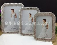 Wholesale metal frames quot quot quot diamond inlaid metal zinc alloy photo frame wedding photo frame bridal gifts