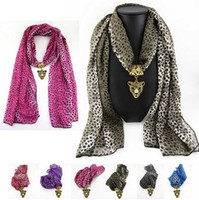 Wholesale 50pcs New Arrival Top Quality Chiffon Sexy Leopard Print Tiger Pendant Scarf Long Ladies Scarves