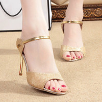 high heel open toe shoes - High Quality Women Sandals Pointed Toe High Thin Heel Summer Sexy Fish Head Ladies Shoes for Nightclubs Party TX0282 salebags