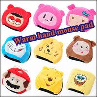 Wholesale USB warm hand mouse mat heating mouse mat lovely cartoon usb warm mouse mat can unpick and wash with order lt no tra