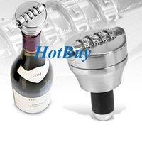 Wine Stoppers Metal ECO Friendly Combination Bottle Password Lock Gadget Gift Wine Beer Spirit Stopper Cork Bar Kid Proof #3443