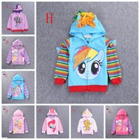 Spring / Autumn baby girl pony - Retail spring autumn baby girls clothes My little pony kid girl s cartoon hoodies children outwear coat girl cute hooded jumpers