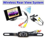 Wholesale 3 inch Security TFT LCD Car Monitor IR Night Vision Rear View Backup Camera Wireless Parking Assistance System Kit