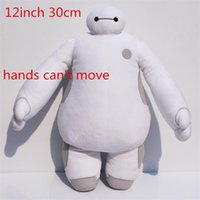 Wholesale Big Hero inch cm Baymax Robot hands can t move Stuffed Plush Animals Toys Christmas Gfit for kids