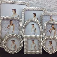photo frame gifts - and inch pearl diamond zinc alloy photo frame picture frame home decoration gift craft