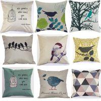 Wholesale IMVATION New Arrival Fashion Vintage Cotton Linen Cushion Cover Throw Pillow Case Waist Home Decor