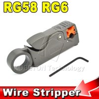 Wholesale 2015 Mini Rotary Coax Coaxial Cable Cutter Tool RG58 RG6 Stripper for RG QS C C C Network RF BNC Hex Wrench Tool