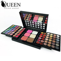 Wholesale 78 Colors Layers Sliding Makeup Set including Eyeshadow Contour and Concealing in Matte and Shimmer with Mirror Brush Inside