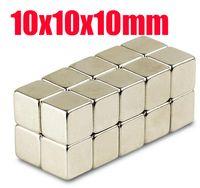 10 * 10 * 10 n52 aimant en gros 20pcs forts Bloc Cube Aimants 10mm x 10mm x 10mm Rare Earth aimants néodyme