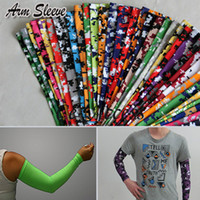 arm sleeves - 128 COLORS Compression Sports Arm Sleeve Camo Baseball Basketball Football Youth Adult