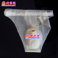 Cheap 2 pcs mens sexy natural latex briefs shorts penis hole thong underwear gay cocksox use with condoms by free shipping