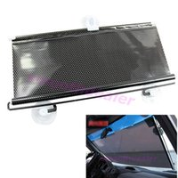 Wholesale 1SET Black Car Auto Window Roll Blind Sunshade Windshield Sun Shield Visor x125cm