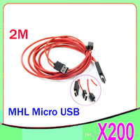 Wholesale DHL M MHL Micro USB To HDMI Adapter HDTV AV Cable For Samsung Galaxy S2 i9100 Note i9220 HTC SONY ZY SB