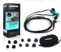 Wholesale Shure SE215 HIFI Earphones mm In Ear Noise Cancelling Experience Balance Armature earbud moving coil earbuds with RetailPackage Free Ship