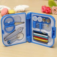 Wholesale Portable Mini Sewing Box With Needle Threads Sewing Kits Outdoor Travel Sewing Set Convenient DIY Tools