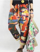 Wholesale Product release in the spring of the original design loose big yards of cotton ms leisure haroun pants