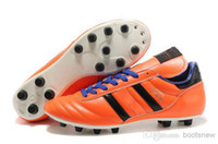 Cheap Hot Mens Copa Mundial Leather FG Soccer Boots 2014 World Cup Soccer Shoes Orange Cleats athletic football shoes botines futbol