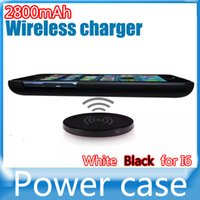 Wholesale NEW Arrive iphone Wireless charger power bank case mAh with wireless charge function For Iphone6 Power Bank Case For IPHONE6