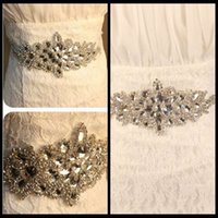 Wholesale Sparkling Rhinestone Sashes - 2015 Sparkling Rhinestones Wedding Bridal Sashes Belts With Beaded Crystals Wedding Bridal Dress Belt For Bride Cheap Bridal Accessories