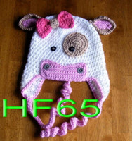 baby horse photos - Christmas Gift Handmade Crochet Knitted Hat Baby Boys Girls Cartoon Cow Horse Hat Newborn Infant Toddler Children Beanie Photo Props Cotton