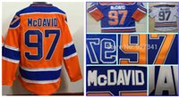 Wholesale 2015 cheap Edmonton Connor MCDAVID jerseys Blue white orange Hockey Jersey Stitched Top Quality Fast men