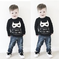 batman jumpers - 2016 Batman Kids Baby Boy Long Sleeve Jumper Sweatshirts Toddler cartoon t Shirt Tops Clothes