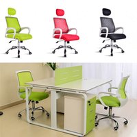 Wholesale Adjustable Medium Posture Office Chair With Mesh Fabric Pads Ship Computer Gaming Chair Free Rotating Chairs