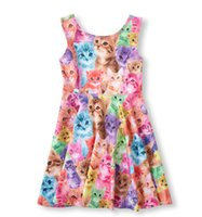 clothing factory - 2015 cute animal image dresses for girls kids clothing lovely summer dress girls dresses factory price hot selling tutu dress
