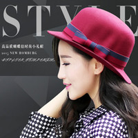 Wholesale 2016 New eras hats women Jazz cap wide brimmed fedora wide brim fedora for women formal wear hat NMZ65