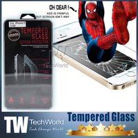 Wholesale iPhone iPhone Plus Tempered Glass Protector MM D Shatterproof Screen Perfect Protection For Iphone5 i5 S Galaxy S5 S4 Note3