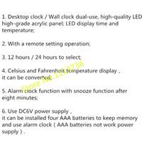 Precio de Grandes relojes de pared azul-El reloj de pared creativo grande LED Digital Diseño Decoración casera moderna 3d grande de la decoración decorativo reloj azul / verde
