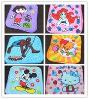 Wholesale Spiderman towels baby boys girls cotton towels children hand towel spider man Barbie Kitty Winne Dora cartoon bath towel cm cm
