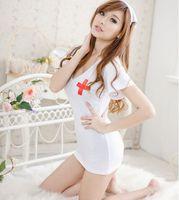 Wholesale Delicate Women Nurses Uniform Temptation White Soft Nurses Cosplay Set Sexy Lingerie for Youth